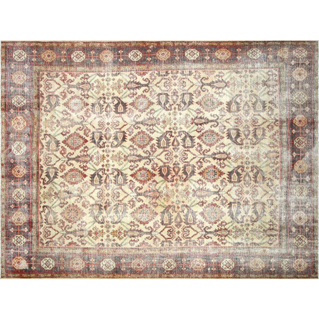 """Textile 1930s Persian Mahal Carpet - 9'6"""" X 12'6"""" For Sale - Image 7 of 7"""