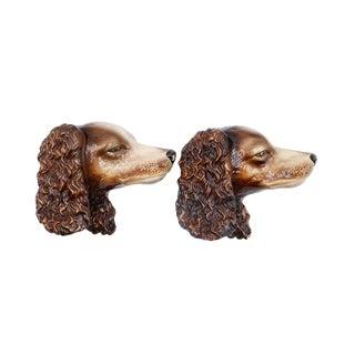 Ceramic Cocker Spaniel Heads - a Pair For Sale