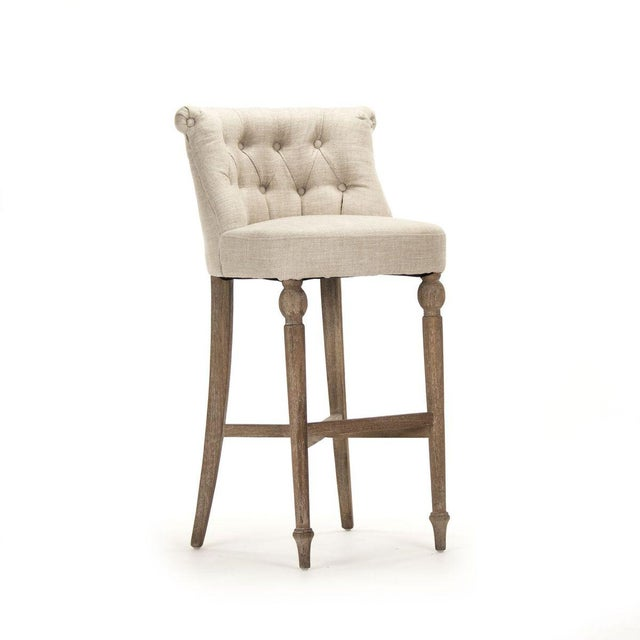 2020s Leaze Bar Stool in Cream For Sale - Image 5 of 5