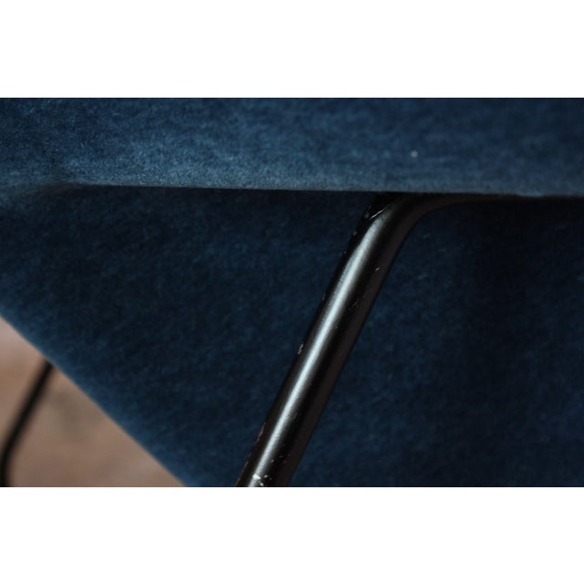 Blue 1950s Early Production Eero Saarinen for Knoll Womb Chair and Ottoman - a Pair For Sale - Image 8 of 13
