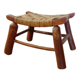 1930s Vintage Hickory Co. Style Footstool For Sale