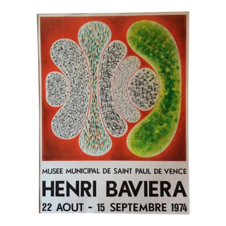 1970s Vintage Exposition Poster by Henri Baviera