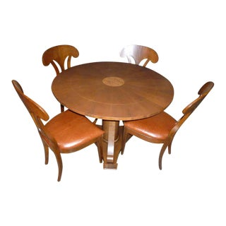 Magolini Design Game Table with Four Chairs - Set of 5 For Sale