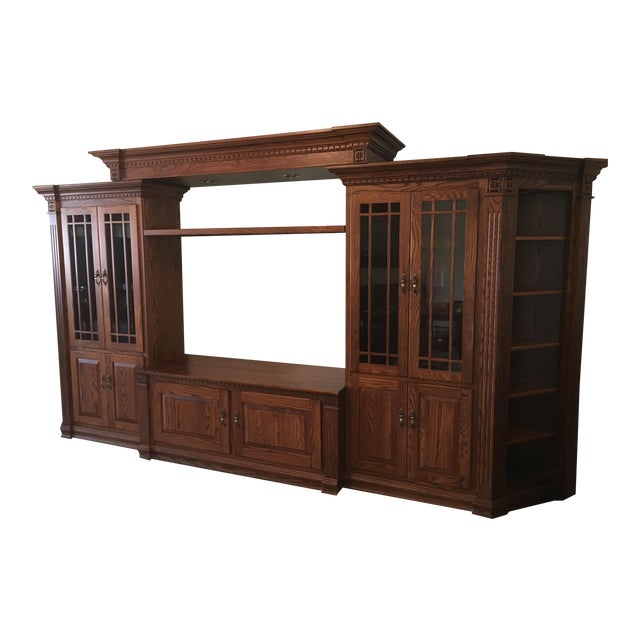 Amish Lighted 5-Piece Wall Unit - Image 1 of 11