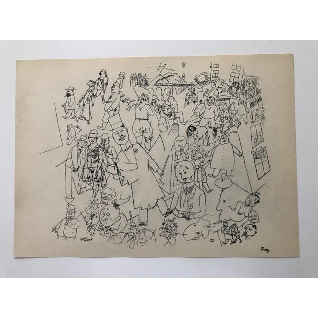 Early 20th Century Antique George Grosz Our World Print For Sale In New York - Image 6 of 6
