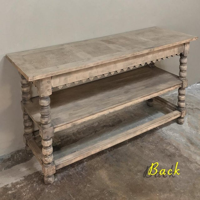 Early 19th Century Rustic Renaissance Stripped Oak Counter For Sale - Image 4 of 13