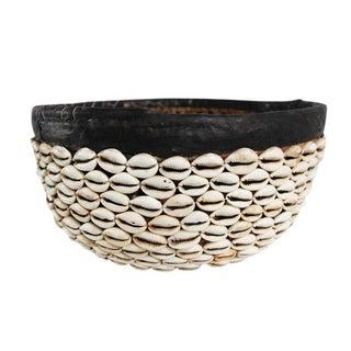 Vintage Cowry Shell Basket