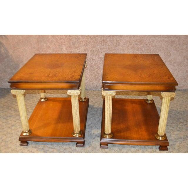 Vintage Neo-Classic Style Corenthian Column Leg Side Tables - a Pair For Sale - Image 13 of 13