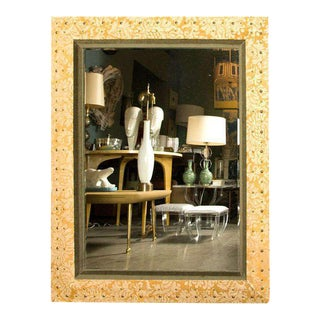 Suede & Velvet Mirror by Paul Marra For Sale