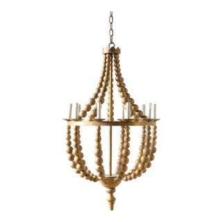 Contemporary Gold Wooden Adonis Chandelier For Sale