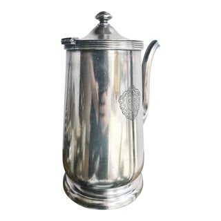1968 Silver Plated Coffee Pot From the Plaza Hotel Nyc For Sale