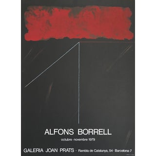 1979 Vintage Alfons Borrell Joan Prats Gallery Lithograph Poster For Sale