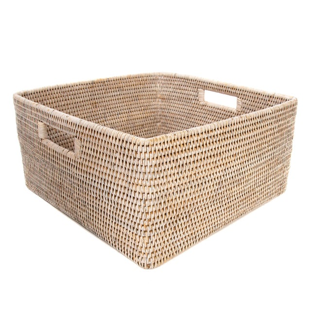 Artifacts Rattan Square Storage Basket For Sale - Image 4 of 4
