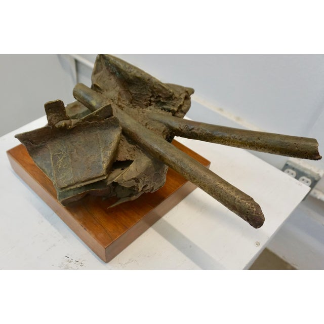 1960s Solid Bronze Abstract Sculpture by Russel Baldwin For Sale In Palm Springs - Image 6 of 6