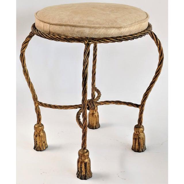 Rope & Tassel Vanity Stool For Sale - Image 10 of 10