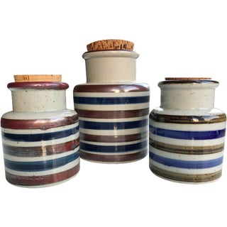 Vintage Japanese Ceramic Canisters - Set of 3