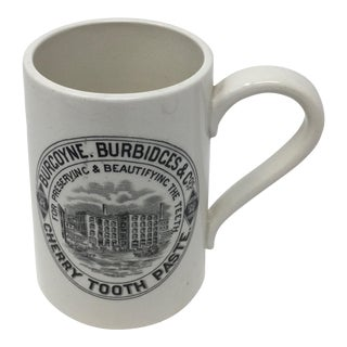 Vintage English Burgoyne, Burbidces & Co. Cherry Tooth Paste Advertising Mug For Sale