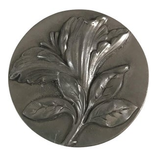 Botanical Pewter Trinket Box