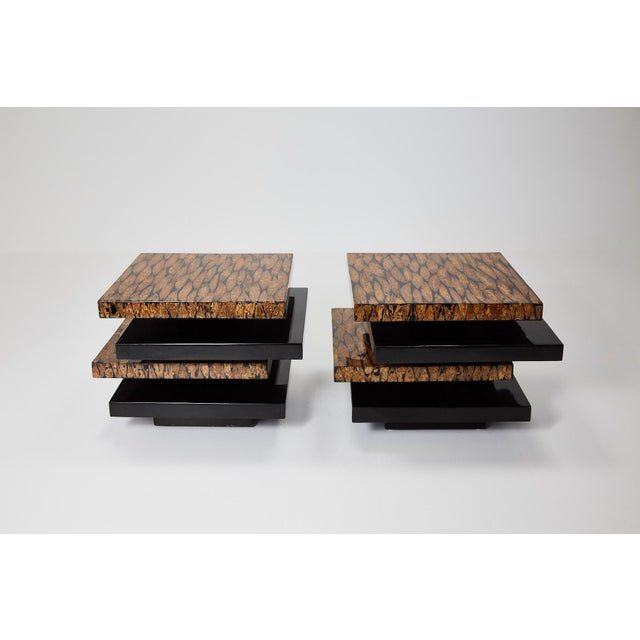 1990s 1990s Contemporary Stacked 2-Part Coffee Table For Sale - Image 5 of 11