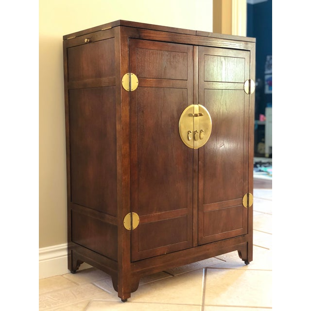 Gold 1960s Chinoiserie Michael Taylor for Baker Far East Collection Sideboard Credenza For Sale - Image 8 of 11