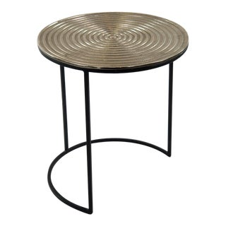 Dartmouth Ribbed Table Top Side Table For Sale