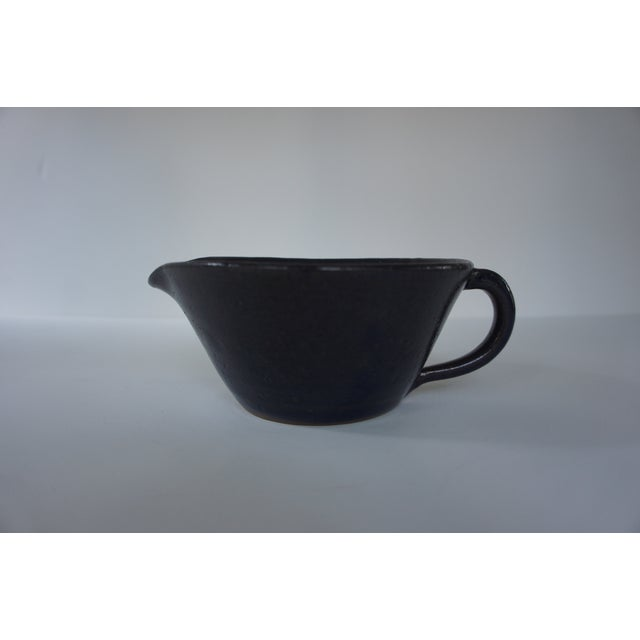 1970s Mid-Century Modern John Garrou for Old Fort Pottery Purple Glaze Pitcher For Sale In Washington DC - Image 6 of 11