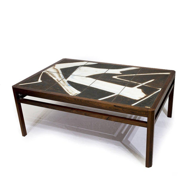 Danish Rosewood Abstract Tile Coffee Table - Image 3 of 10