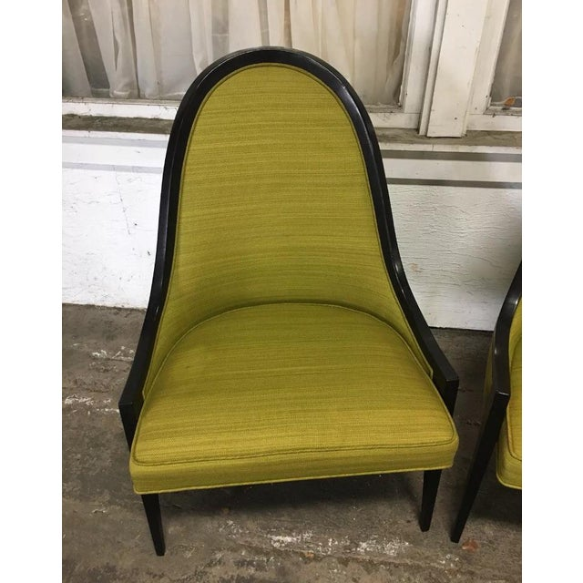 """Contemporary Vintage Mid Century Harvey Probber """"Gondola"""" Chairs - A Pair For Sale - Image 3 of 6"""