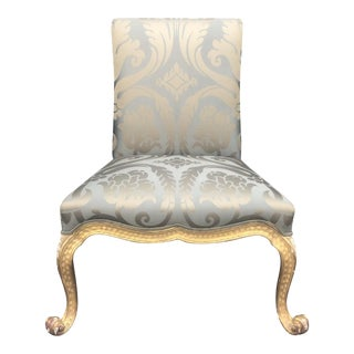 Superb Rose Tarlow Italian Kent Chair in 22k Gold Finish For Sale