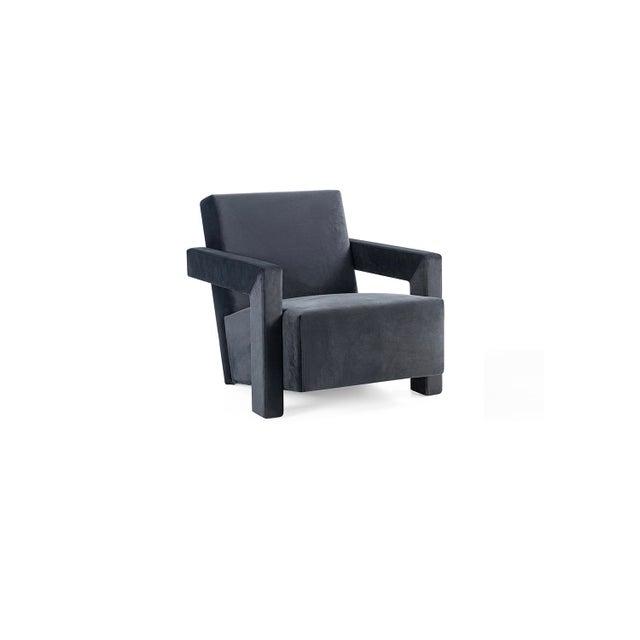 Modern Vesta Tycho Lounge Chair in Velvet For Sale - Image 3 of 3
