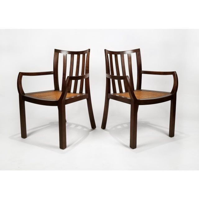 Danish Modern 1960's Baker Far East Collection Dining Room Table and Chairs by Michael Taylor For Sale - Image 3 of 13