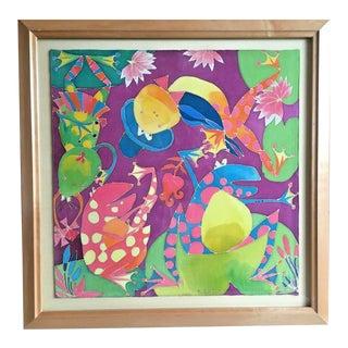 Original Batik Painting by Russian Artist Lilia Kim Signed & Framed For Sale