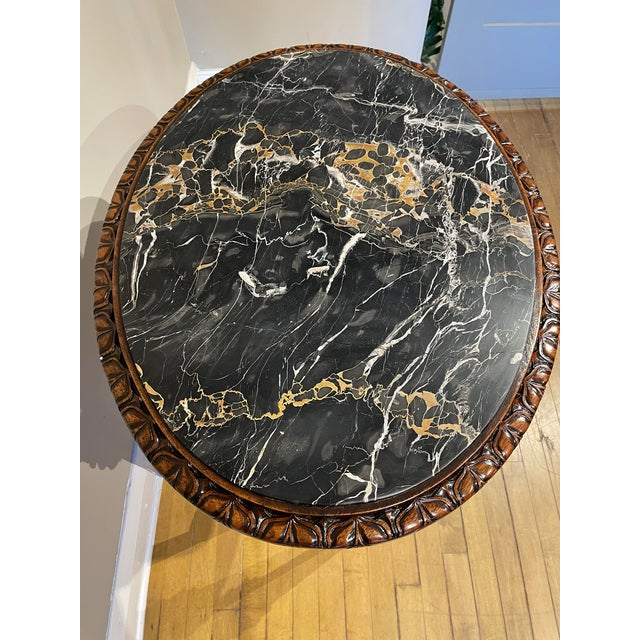 20th Century French Provincial Heavily Cured Side Table For Sale In Chicago - Image 6 of 8
