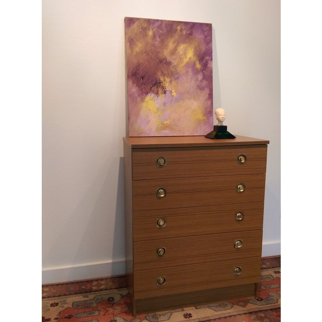 Original Oil on Canvas Abstract Modern Painting - Image 6 of 6
