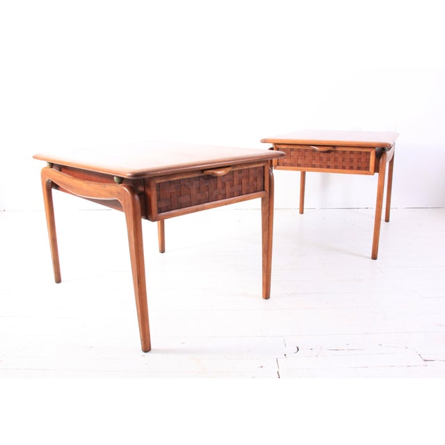Vintage Lane Mid-Century Side Tables - a Pair - Image 7 of 10