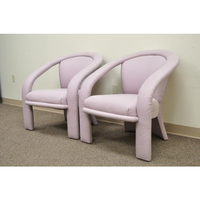 Carson's Sculptural Mid-Century Modern Lounge Chairs - A Pair - Image 3 of 11