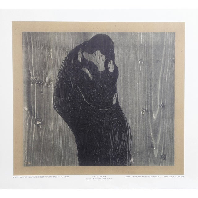 Edvard Munch, the Kiss, Poster For Sale