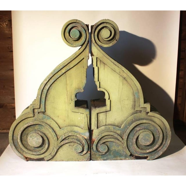 Pair of Large Wood Corbels, 19th Century For Sale - Image 4 of 6