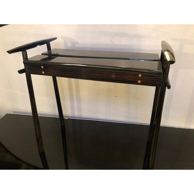 "David Ebner American b. 1945 ""TORII"" end table ebony wood signed 'DNE 84' Possibly the first Torii table made and..."