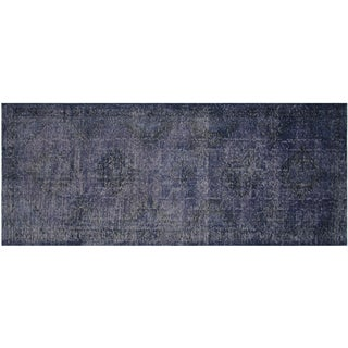 Vintage Turkish Overdyed Runner - 4′9″ × 13′ For Sale