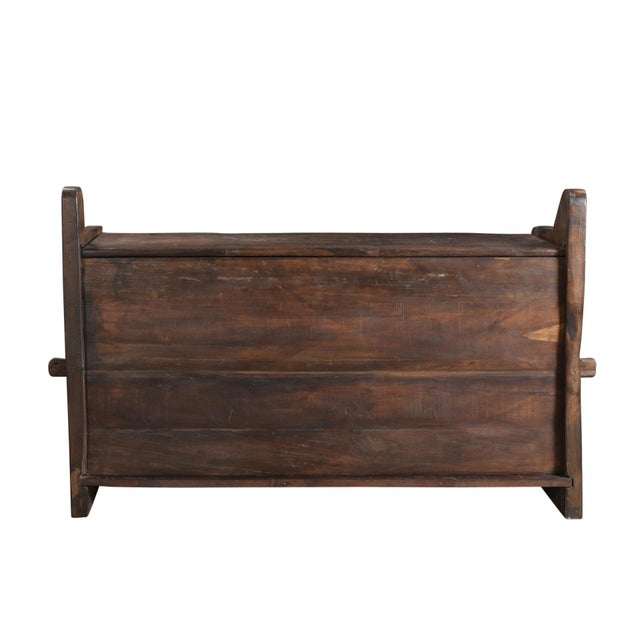 Tribal Wooden Carved Trunk - Image 3 of 7
