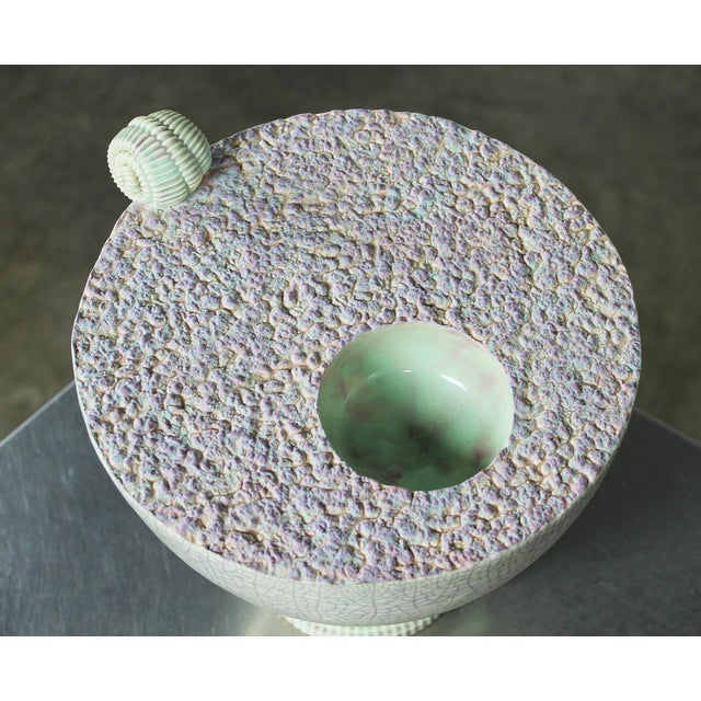 Sea Green Ceramic Sculpture by Martin Bleyer - Image 9 of 11