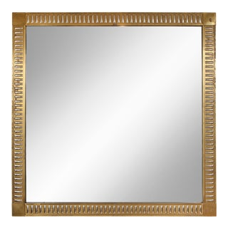 Rectangular Bronze Mirror With Mirrored Inserts in the Neoclassic Manner For Sale