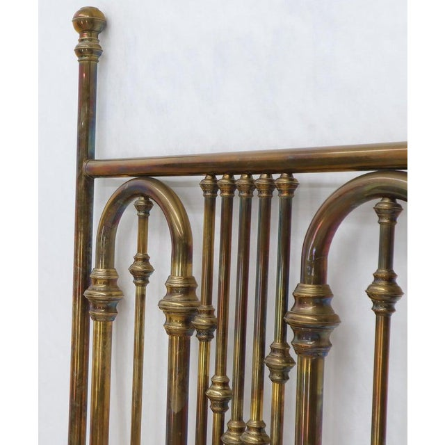 King Size Large Brass Headboard For Sale In New York - Image 6 of 12