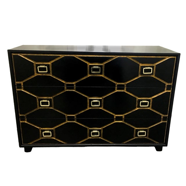Dorothy Draper Black Viennese Collection Dresser For Sale