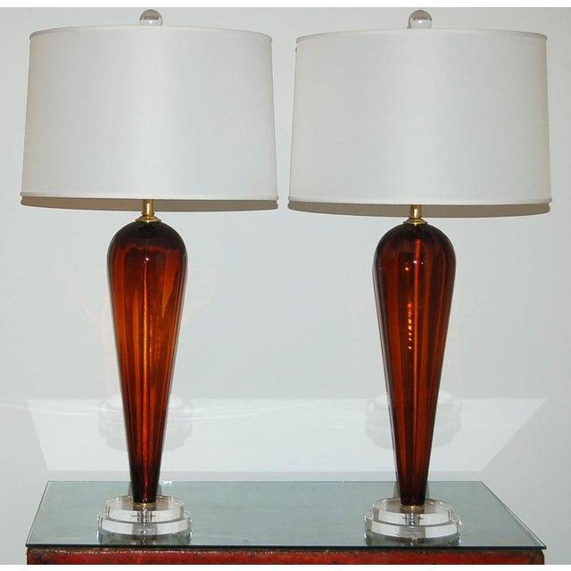 Italian Vintage Italian Glass Teardrop Table Lamps For Sale - Image 3 of 9
