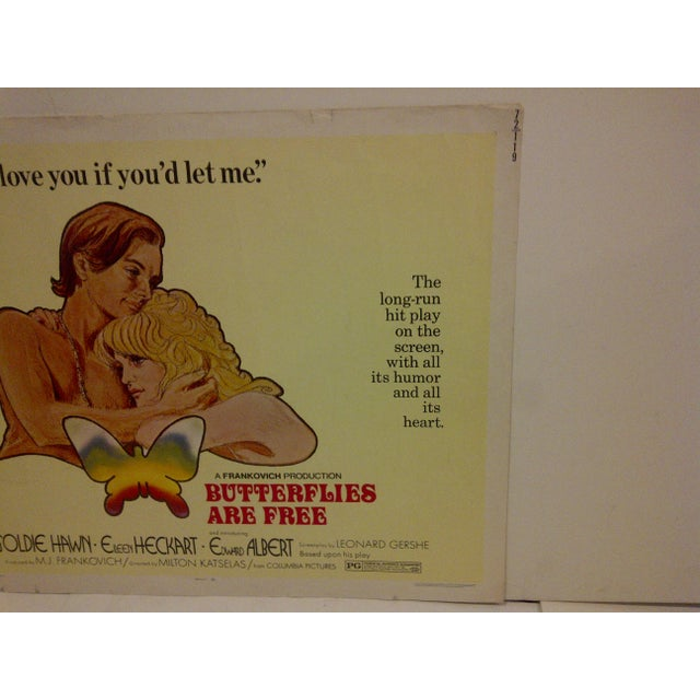 """1972 Vintage Movie Poster of """"Butterflies Are Free"""" For Sale - Image 4 of 5"""