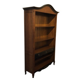 Italian Handcarved Wooden Bookcase For Sale