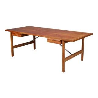 Mahogany and Oak Danish Desk by Hans J. Wegner for Andreas Tuck, Model At325 For Sale