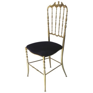 Italian Brass Chiavari Chair For Sale